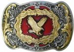 Flying Eagle Gold and Sliver Plated Belt Buckle. Code GK7